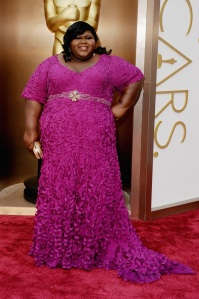 Gabourey-Sidibe-Oscars-Red-Carpet-