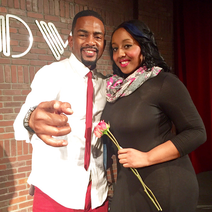 Bill Bellamy with Movie Scene Queen's Merecedes Howze