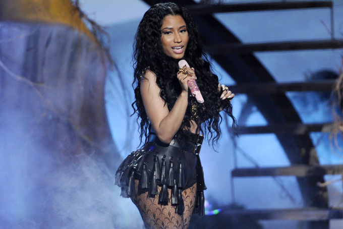 This June 29, 2014 file photo shows singer Nicki Minaj performing at the BET Awards in Los Angeles. (Photo by Chris Pizzello/Invision/AP, File)